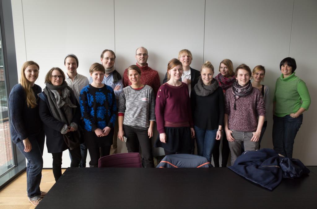 Die Stipendiaten & Mentoren des Medialabs (Claudius steht hinter der Kamera)
