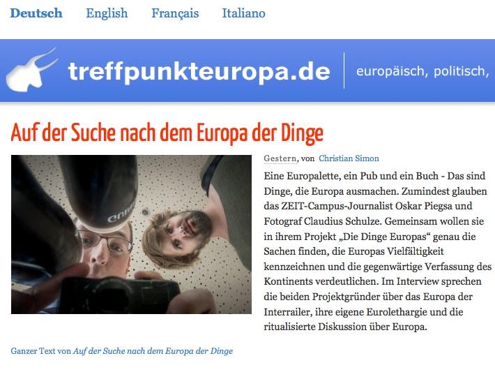 Screenshot Treffpunkt Europa